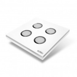 EDISIO - Interrupteur Elegance Blanc 4 Touches Base blanche
