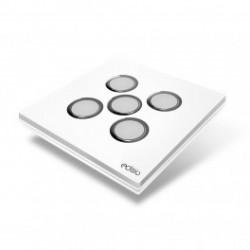 EDISIO - Interrupteur Elegance Blanc 5 Touches Base Blanche