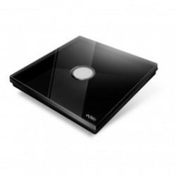 EDISIO - Interrupteur Diamond noir 1 Touche Base noire