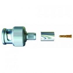 BNC plug male crimp for cable video KX6