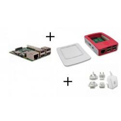 Lampone PI3 - Lampone Pi3 pack con alimentatore e case