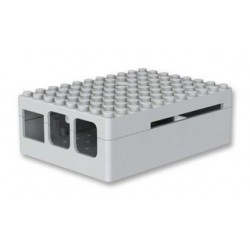 FRAMBUESA PI3 - Caso Pi Blox para Raspberry Pi Modelos B+, 2, y 3 Modelos B, ABS, Blanco