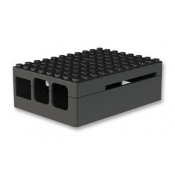 RASPBERRY PI3 - Boitier Pi Blox pour Raspberry Pi Modèles B+, 2 et 3 Modèles B, ABS, Noir