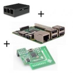 Raspberry Pi 3-tarjeta de Z-wave Plus caso de Lego negro