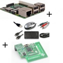 Raspberry - Raspberry Pi 3 Model B (WiFi and Bluetooth) with adapter z-wave.me and cable