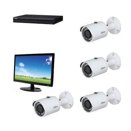 Lilin - Pack analogen cctv HD 1080P mit monitor