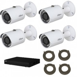 Dahua - Pack IP video surveillance camera HD 1080P 4 cameras
