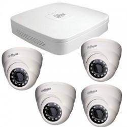 Dahua - Kit éco vidéosurveillance IP HD 1080P 4 caméras dômes