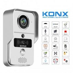 KONX W02C+ - Portier vidéo WiFi ou Ethernet / IP lecteur RFID avec sonnette
