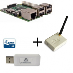 Raspberry PI 3 Model B - Contrôleur Z-wave Plus Everspring SA413 et Rfxcom