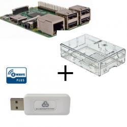 Raspberry PI 3 case with transparent Z-Wave controller More Everspring SA413