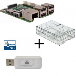 Raspberry PI 3 Model B - With case and controller, Z-wave Plus Everspring SA413