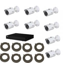 Dahua - Pack de video vigilancia IP cámara HD 1080P de 4 canales