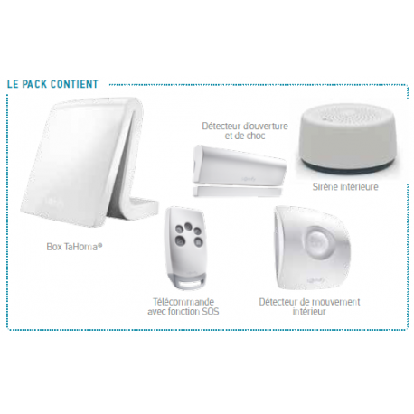 Tahoma Serenity Essential - Somfy pack alarme connectée