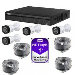 Kit video surveillance Dahua AHD1080P 4 cameras