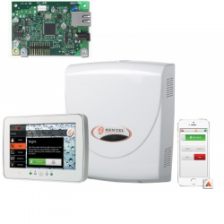 Central alarm mixed Bentel ABSOLUTA 16 zones with touch keyboard MTOUCH and map IP