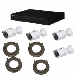 Pack video surveillance DAHUA IP 1MP 4 cameras