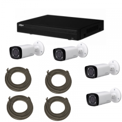 Pack video surveillance DAHUA IP 1MP 2 cameras
