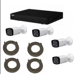Pack vidéosurveillance DAHUA IP 4 Mégapixel 4 caméras