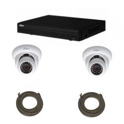 Pack video surveillance DAHUA IP 1 Megapixel 2 dome cameras