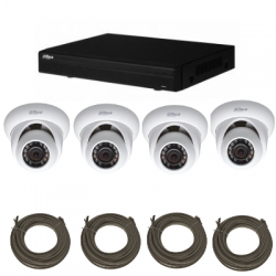 Pack video surveillance DAHUA IP 2 Megapixel 4 dome cameras
