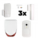 Alarme maison LE SUCRE Honeywell - Pack Honeywell sécurité IP et GSM avec sirène extérieure