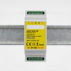 EUTONOMY - Adaptador de euFIX DIN para Fibaro FGS-222 sin botones