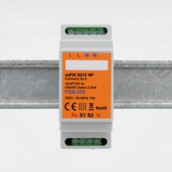 EUTONOMY S212NP - Adaptateur euFIX DIN pour Fibaro FGS-212 sans boutons