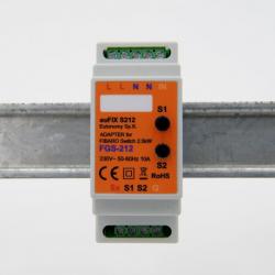 EUTONOMY S212 - Adaptador de euFIX DIN módulo de Fibaro FGS-212 con botones