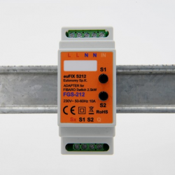 EUTONOMY S212 - Adaptateur euFIX DIN pour module Fibaro FGS-212 avec boutons