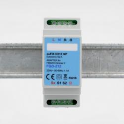 EUTONOMY D212NP - Adaptateur euFIX RAIL DIN pour module Fibaro FGD-212 sans boutons