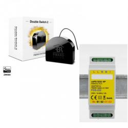 Fibaro FGS-223 - Fibaro módulo interruptor duplo Z-Wave, e Mais com o suporte para trilho DIN