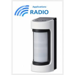 Accesorios optex VXS-RAM - Detector de INFRARROJOS de radio exterior de ángulo amplio de accesorios optex