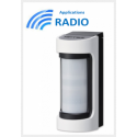 Optex VXS-RDAM - Optex VXS-RDAM détecteur radio IR / Hyperfréqunce extérieur grand angle antimasque