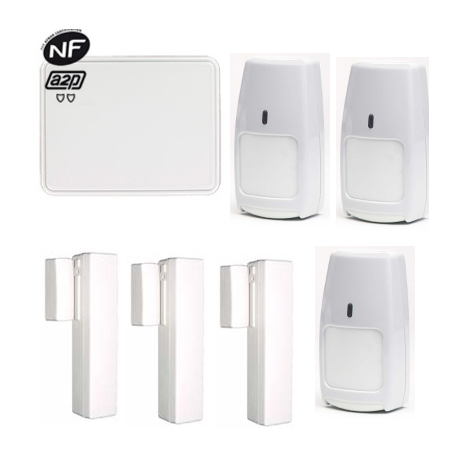 Pack Centrale Alarme Total Connect - Pack Centrale Alarme Total Connect GSM/IP NFA2P type F3/F6