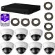 Dahua - Pack vidéosurveillance DAHUA IP 4 Mégapixels 7 caméras dômes