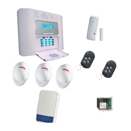 powermaster 30 pack de alarme visonic gsm nfa2p. Black Bedroom Furniture Sets. Home Design Ideas