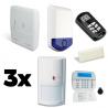 Pack alarme DSC ALEXOR F3 avec sirène flash