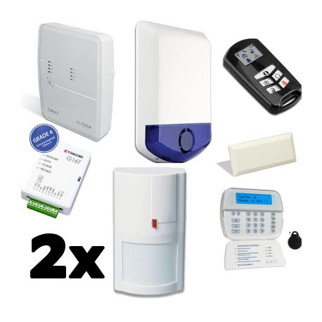 Pack alarm DSC ALEXOR - Für wohnung typ F2 mit GSM