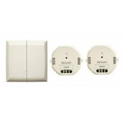 DIO - 54739 - Interruptor de doble transmisor inalámbrico + dos módulos de 1000 w receptor