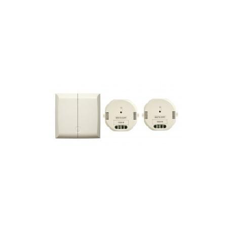 DIO - 54739 - Interrupteur doubles sans fil émetteur + deux modules 1000 w récepteur