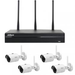 Dahua pack de video vigilancia WIFI 4 cámaras de 2MP