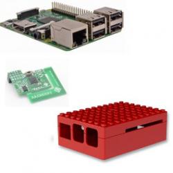 Raspberry pi - Raspberry Pi 3 Model B (WiFi und Bluetooth) - karte mit z-wave.me,Lego-gehäuse schwarz