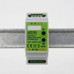 EUTONOMY R222 - Adaptador de euFIX en CARRIL DIN módulo de Fibaro FGR-222 con botones