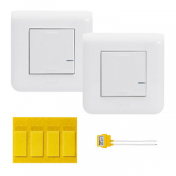 Comes and goes wireless Legrand Mosaic White