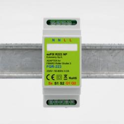 EUTONOMY R222 - Adaptateur euFIX RAIL DIN pour module Fibaro FGR-222 avec boutons