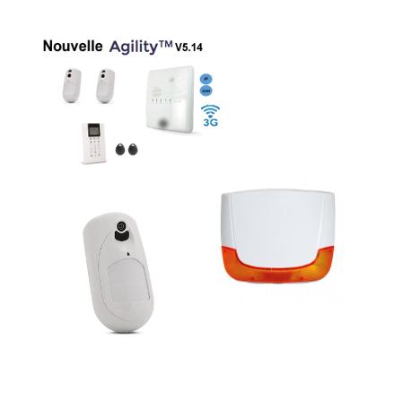 Agility 4 Risco - Risco Agility alarme sans fil IP/GSM détecteurs caméras sirènes extérieure