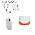 Alarme Risco Agility 4 - Alarme sans fil IP/GSM détecteurs caméras sirènes extérieure