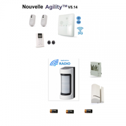 Risco Agility 4 - Alarm wireless IP/GSM detector outdoor accessories optex VXS-RDAM