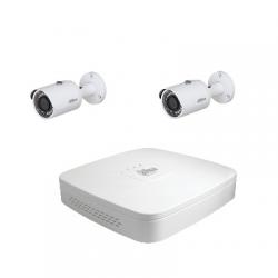 Dahua Kit vidéosurveillance 2 caméras 4 Mégapixels